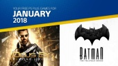 The PlayStation Plus games for January 2018